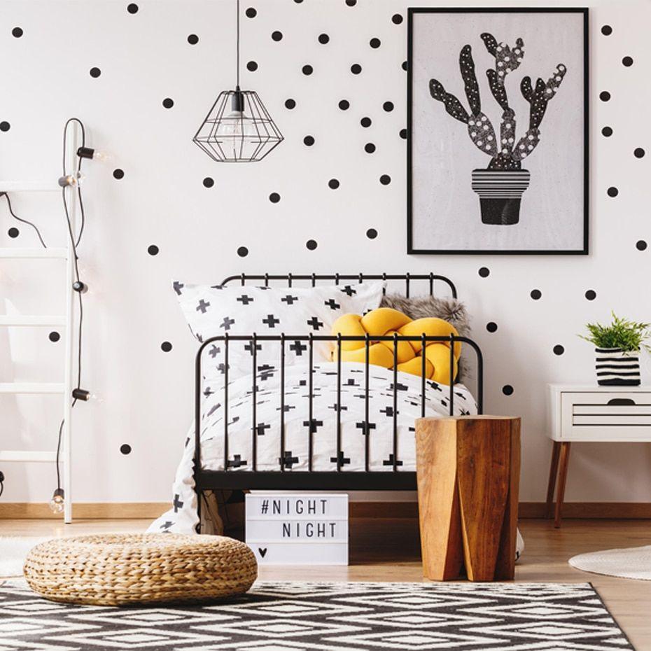Polka Dots Wall Decal Removable 140 Small Polka Dots Diy Nursery Kids Wall Art Decoration Baby Kids R Polka Dot Walls Polka Dot Wall Decals Nursery Wall Decals
