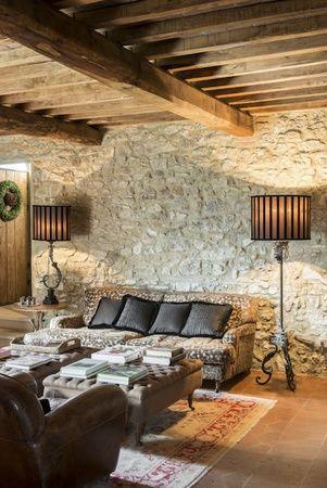 Italy Tuscany Arredamento Salotto Con Camino Arredamento