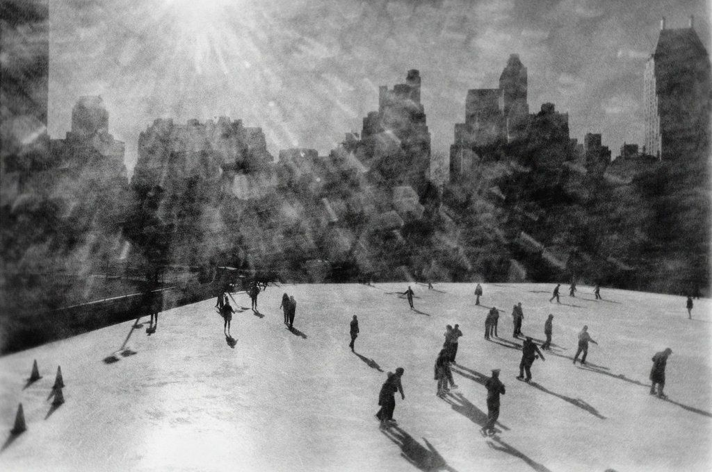 Though the weather was freezing, skaters descended on the Wollman Memorial Rink in Central Park, December 10, 1968. Photo: Neal Boenzi/The New York Times
