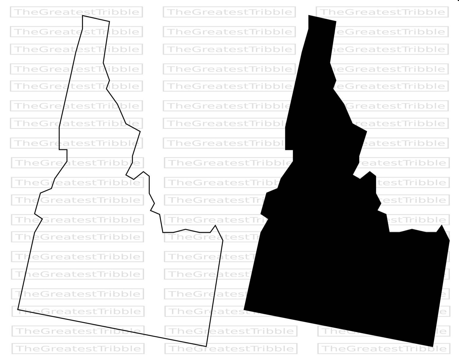 Idaho State Map svg png jpg eps Vector Graphic Clip Art