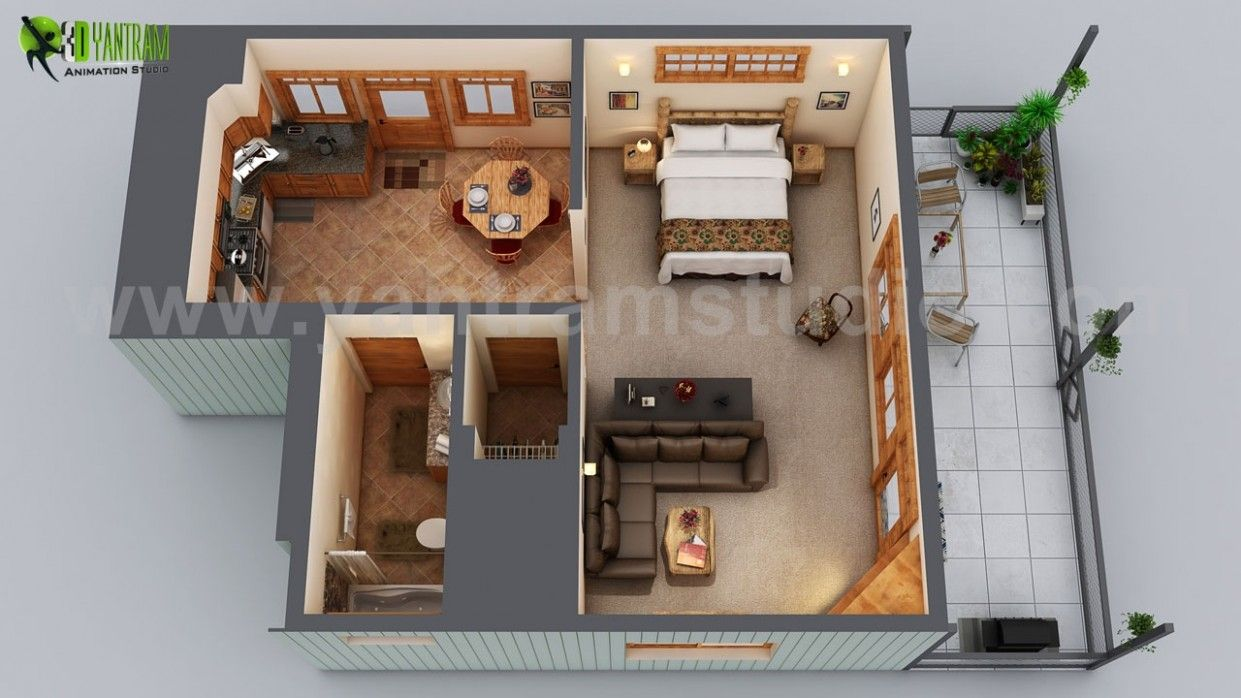 Tiny House Bedroom Vector Di 2020 House Melbourne Hidup