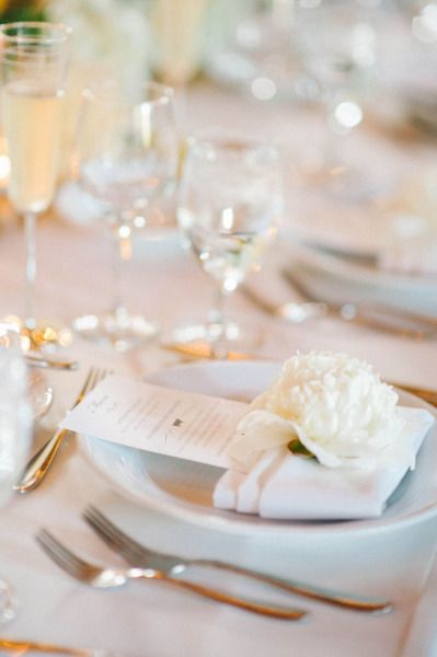 Large florals on place settings  Style Me Pretty | Gallery | Picture | #749369