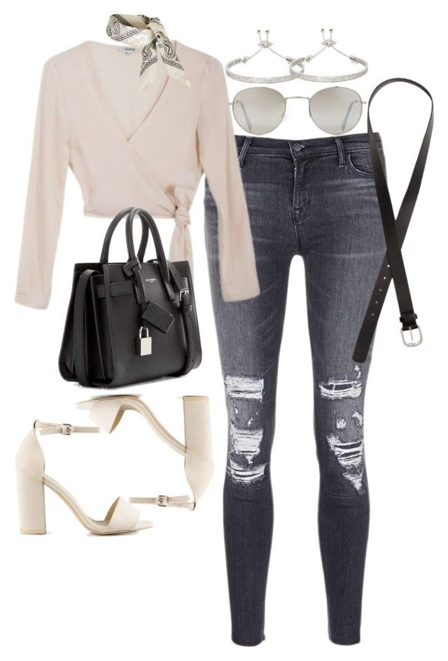 """""""Untitled #1872"""" by sarah-ihab ❤ liked on Polyvore featuring J Brand, Samuji, Nly Shoes, Yves Saint Laurent, Topshop, Forever 21, H&M and Eddie Borgo"""