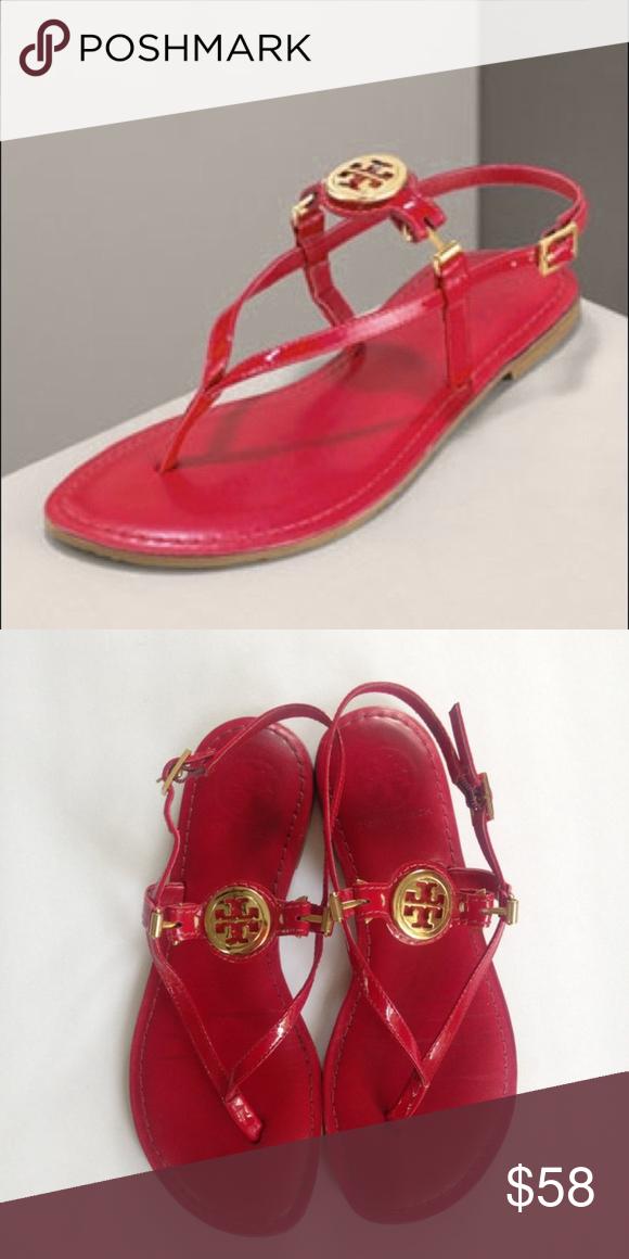 89aa6783a0c Tory Burch Ari logo medallion sandals