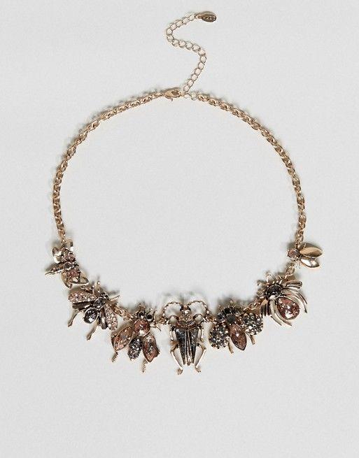 Aldo embellished bug necklace | Aldo