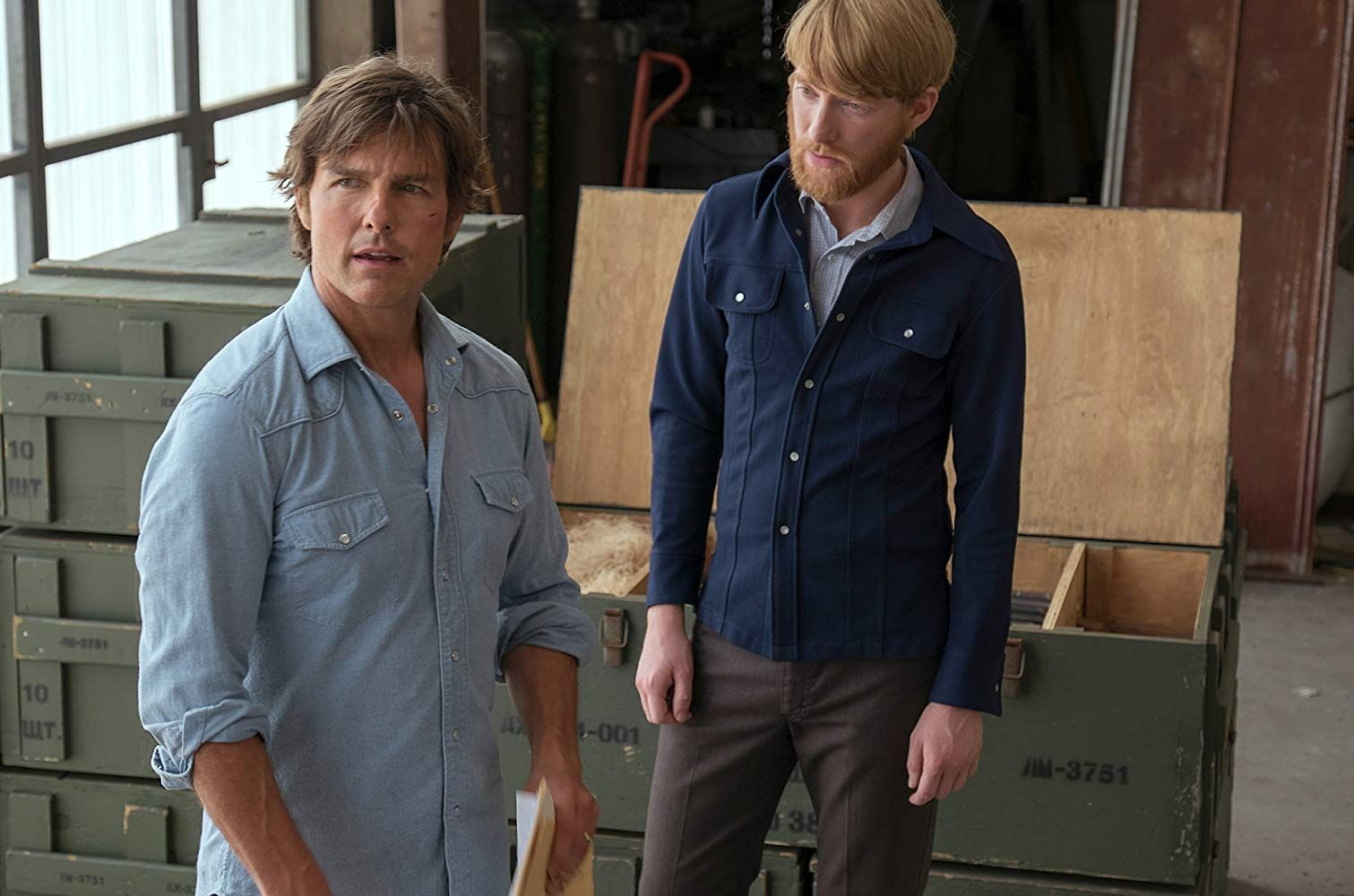 Tom Cruise and Domhnall Gleeson in American Made (2017 ...