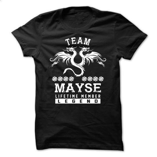 TEAM MAYSE LIFETIME MEMBER - #gift table #shirt. PURCHASE NOW => https://www.sunfrog.com/Names/TEAM-MAYSE-LIFETIME-MEMBER-fxutpexjkm.html?id=60505