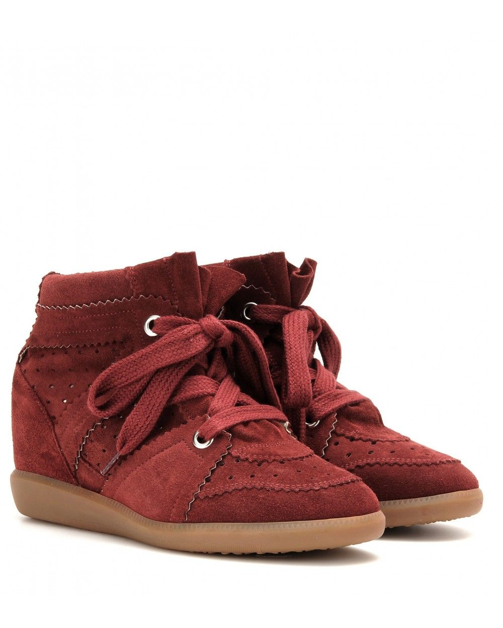 b920f9d5e2 Isabel Marant Etoile Bobby Suede Wedge Sneakers Burgundy - Isabel Marant  #isabelmarant #shoes #sneakers #women #womenfashion #newyear #fashion #gifts