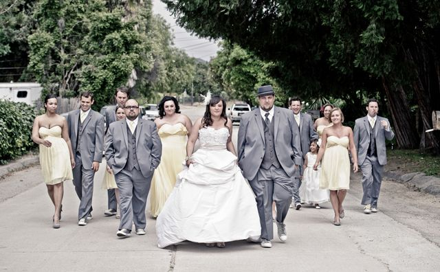 Wedding Yellow And Gray