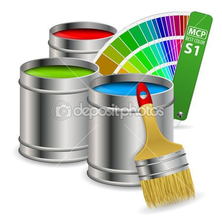 Paint Concept Stock Vector C Talexey 13966568 Referencias Colores