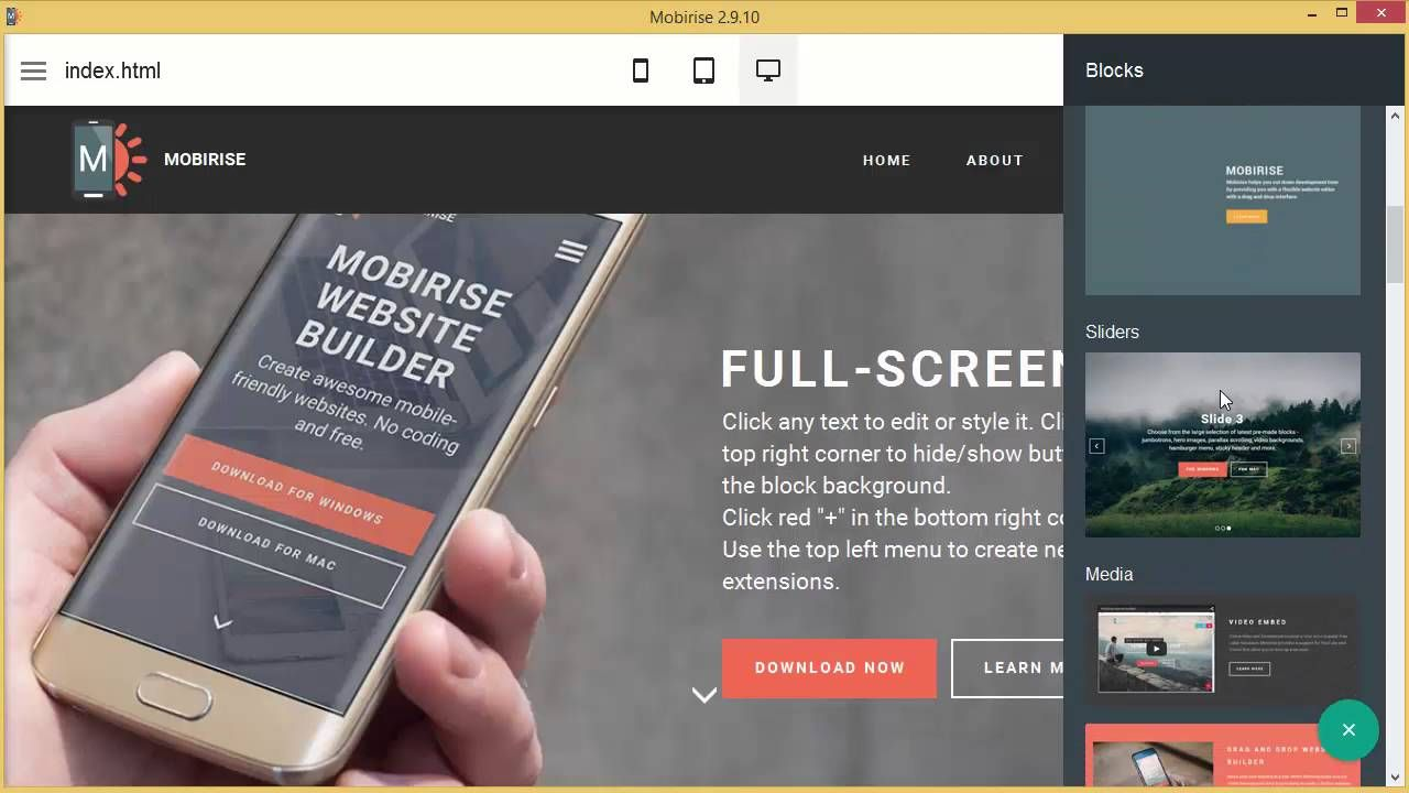 How To Add Cookies Alert In Mobirise Website Builder Software V2 10 Builder Website Create Your Own Website Web Design Tips