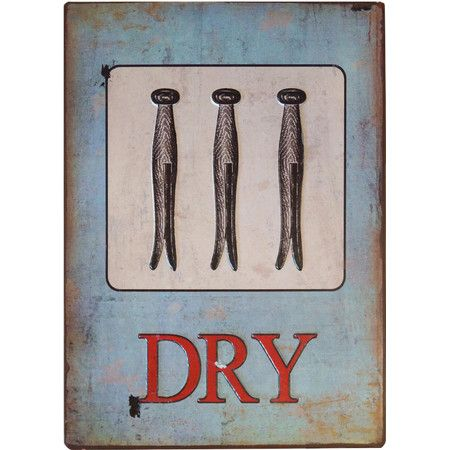 Featuring a classic clothespin motif this weathered wall decor adds a touch of vintaged appeal