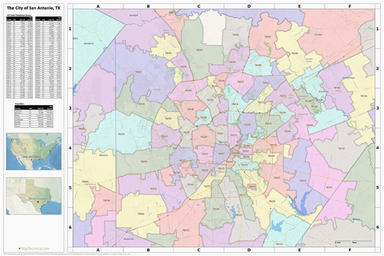 Beautiful Zip Code Map San Antonio Com Throughout San Antonio Tx Map ...