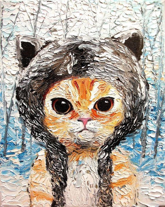 I kinda want to commission a painting of Pumpkin now | Cat print of original oil painting 16x20 by SagittariusGallery