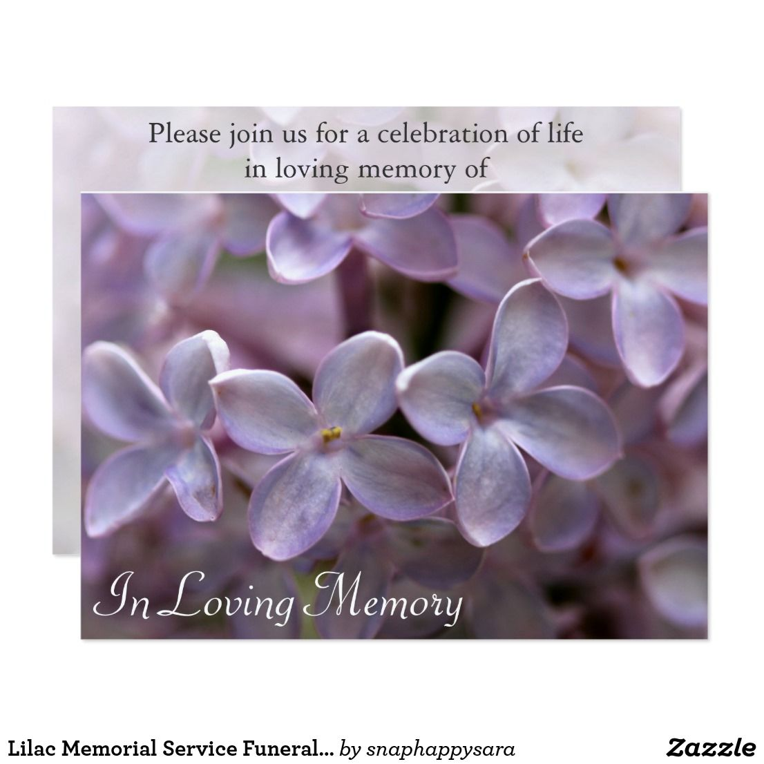 Lilac memorial service funeral invitation funeral and lilacs lilac memorial service funeral invitation stopboris Gallery