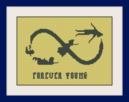 Peter Pan Wendy and Co flying Instant Download BUY 2 GET 1 FREE Peter Pan cross stitch pattern #P089 pdf pattern Never Grow Up