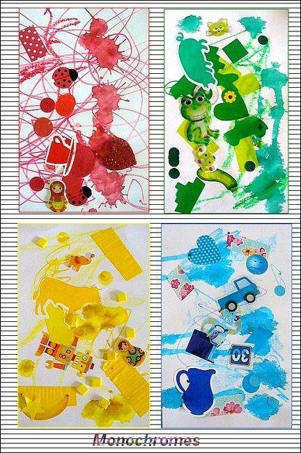 Activit manuelle les monochromes bricolage - Activite manuelle decoration ...