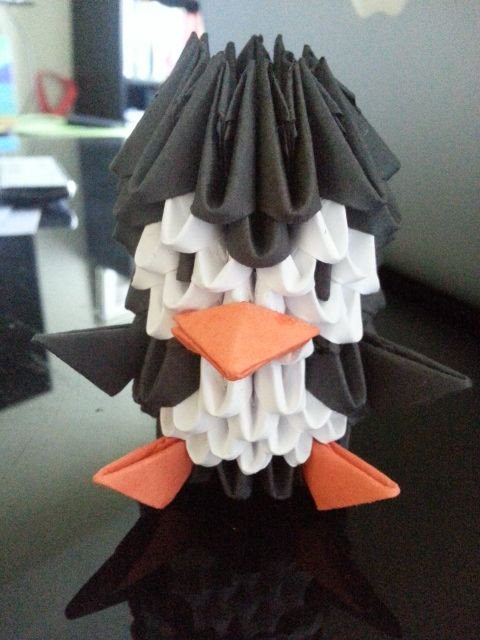 3d Origami Penguin Origami Pinterest 3d Origami Origami And Yarns