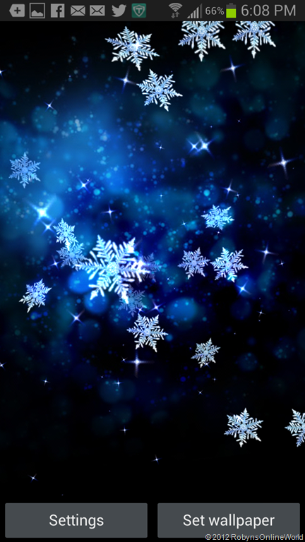 Snow Stars Free Live Wallpaper App For Android Winter Wallpaper Live Wallpapers Snowy Pictures