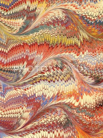 Hand Marbled Paper 19 x 25 Dutch pattern