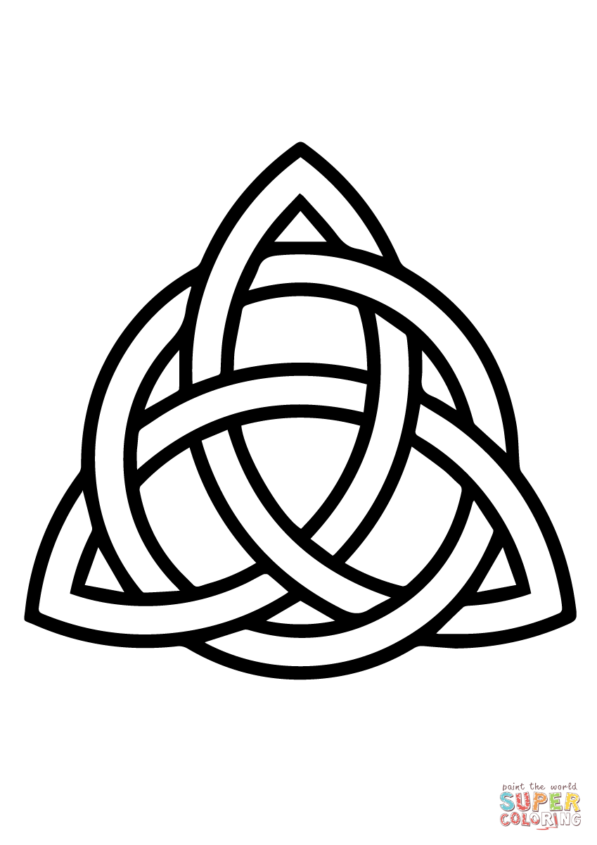 celtic triquetra circle interlaced super coloring wicca