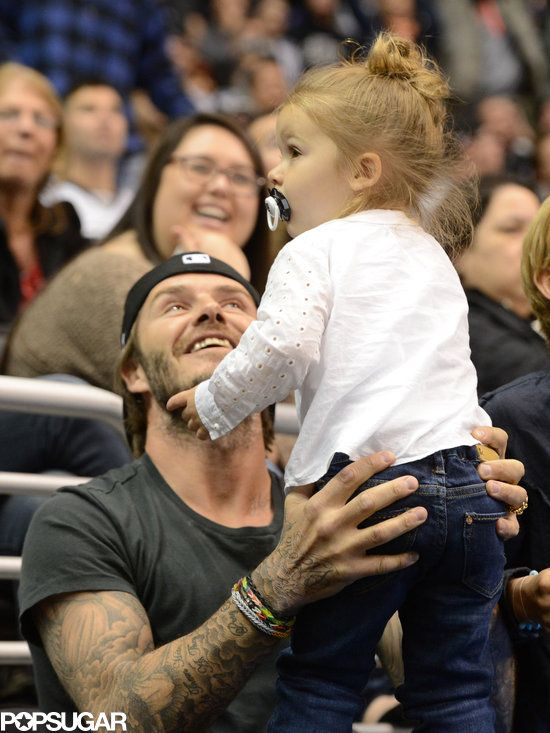 Your daily dose of David and Harper Beckham cuteness!