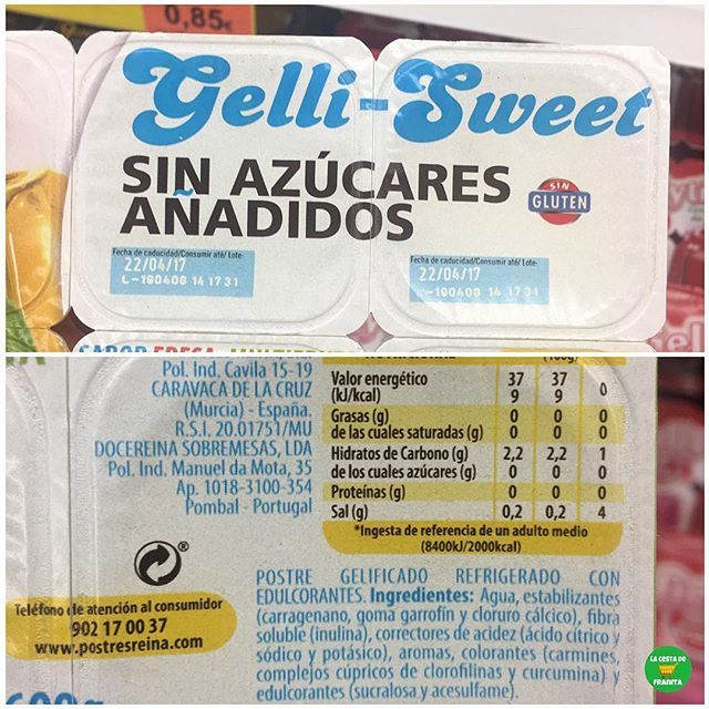 Gelatina Sin Azucares Anadidos Gelli Sweet Supermercado