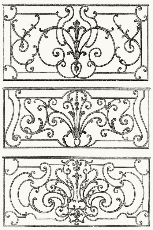 Wrought Iron Balcony Decoration From Architecture Decoration Et Ameublement Pendant Le Dix Huitiem Serebryanaya Filigran Dekor Iz Zheleza Hudozhestvennaya Kovka