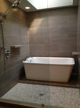 Shower Tub Combination Design Ideas, Pictures, Remodel ... on Wet Room With Freestanding Tub  id=85226
