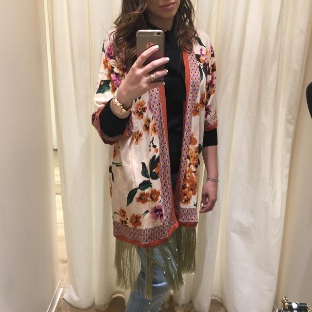kimono twin set con frange