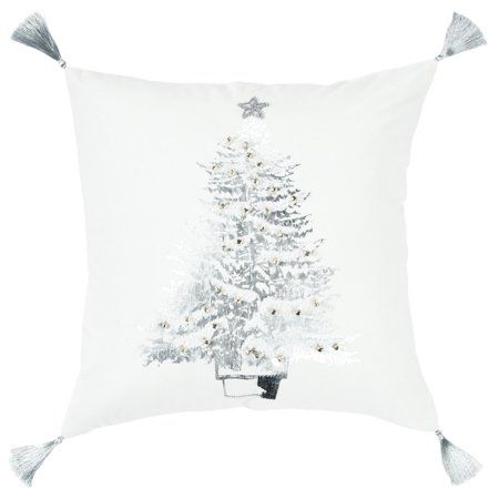 d64415dbc7f Rizzy Home T14975 Ivory 100% Cotton 20 inchX20 inch Decorative Down Filled  Pillow