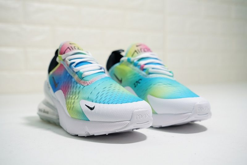 quality design 35c41 de433 Really Cheap Hot Nike Air Max 270 Flyknit White Rainbow Aqua ...