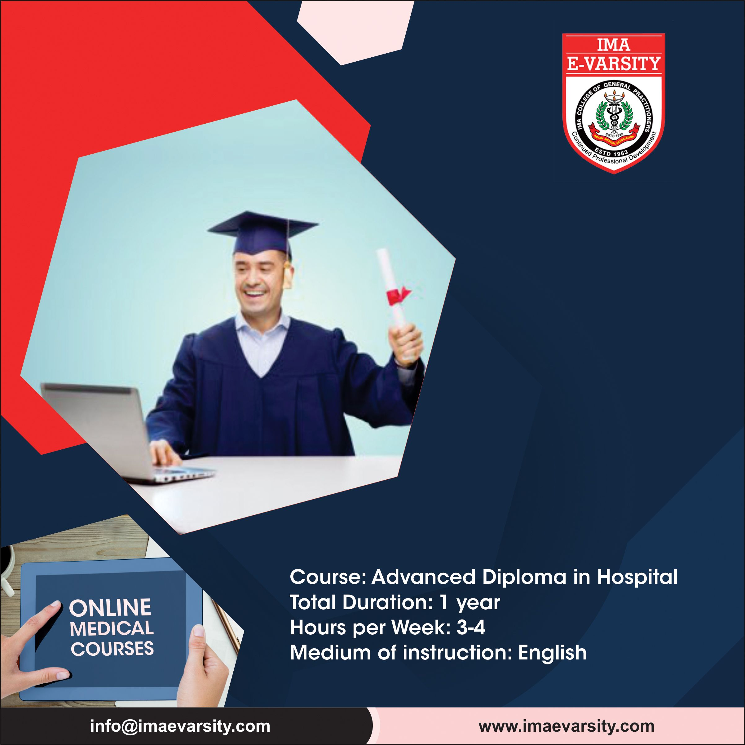 Indian Medical Association offers Advanced diploma in
