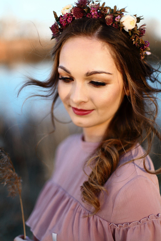 Z Wrazenia Nie Wiemy Co Napisac Make Up Natalia Stepa Fryzura Hair Fashion Salon Fryzjerski Kwiaty Kwiaciarnia Zielona W Hair Styles Hair Style