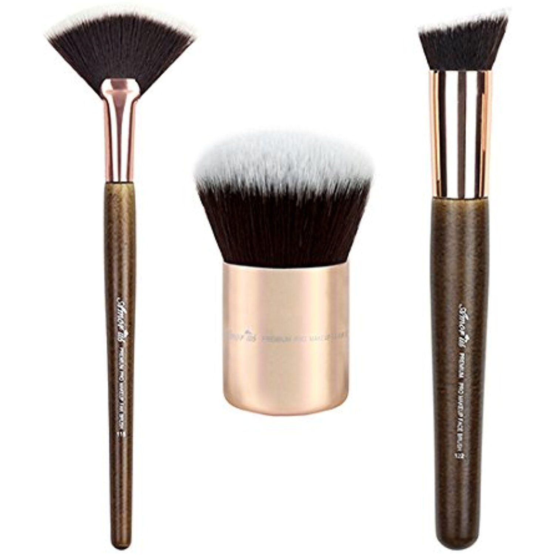 75c5fca60ce6 3- Piece Bundle Premium Makeup Brush Set by Amorus USA ...