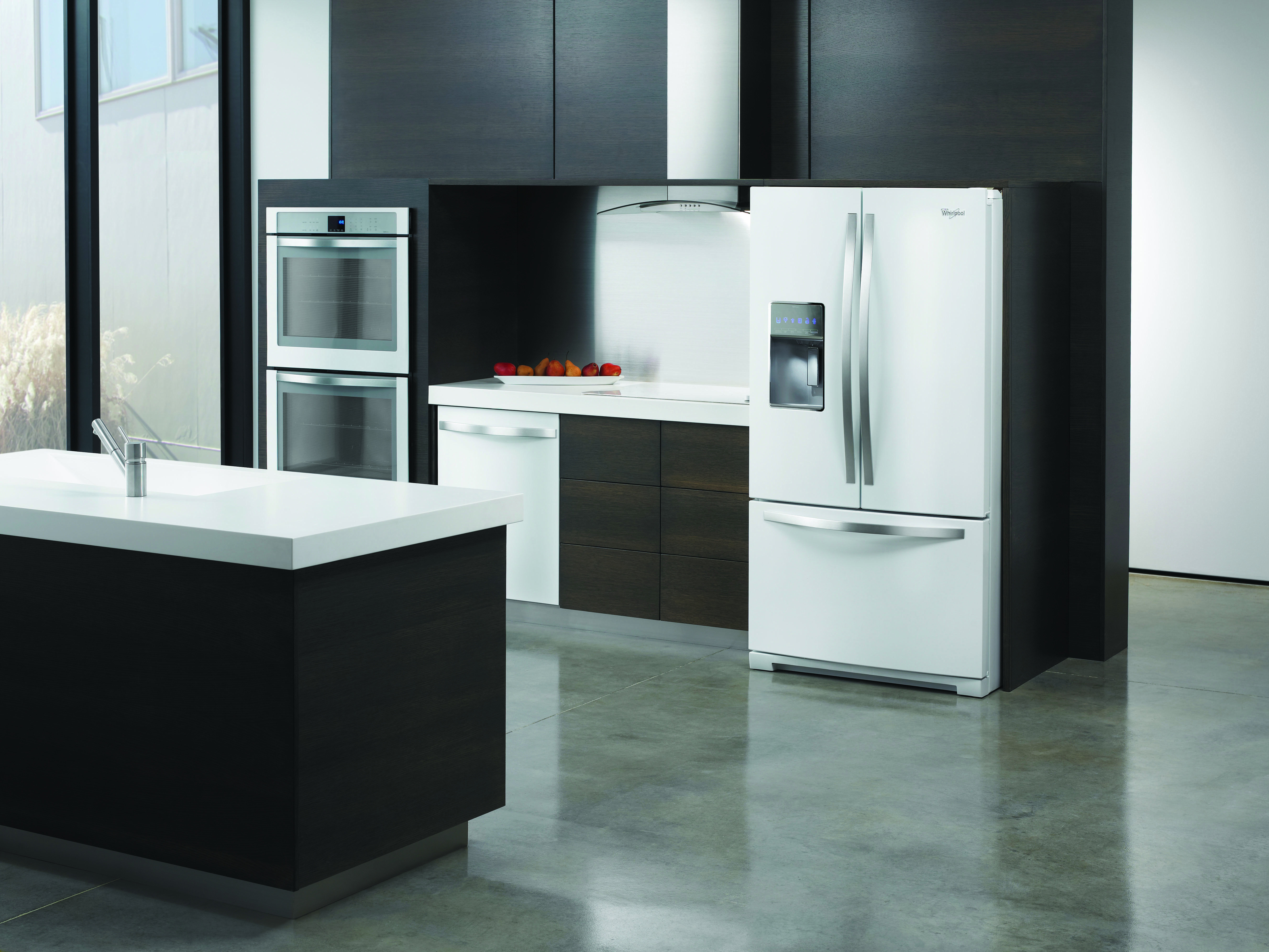 Whirlpool white ice counter depth french door - Whirlpool Counter Depth Side By Side Refrigerator In White Ice