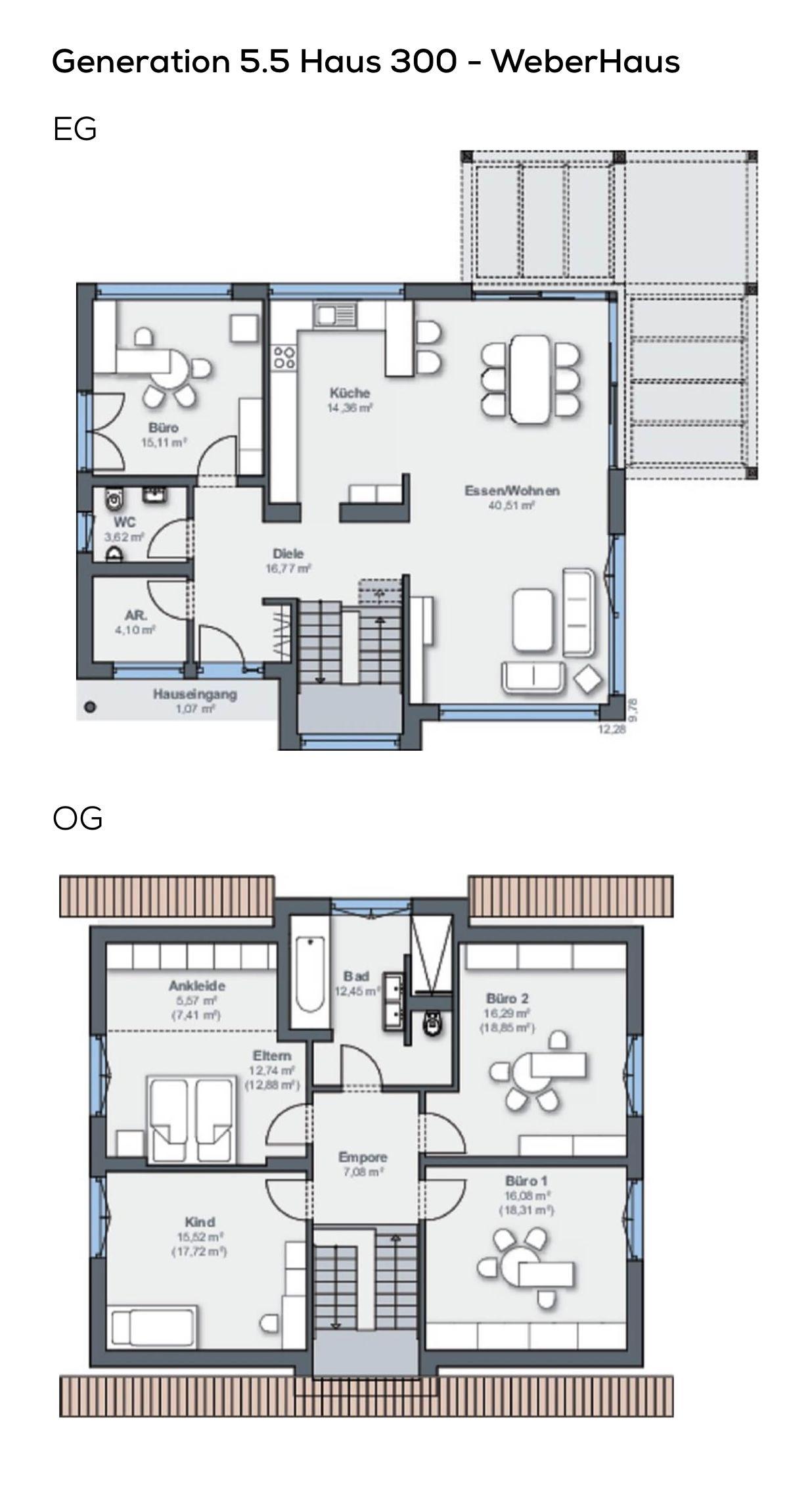 Grundriss einfamilienhaus modernes design mit satteldach for Modernes einfamilienhaus grundriss