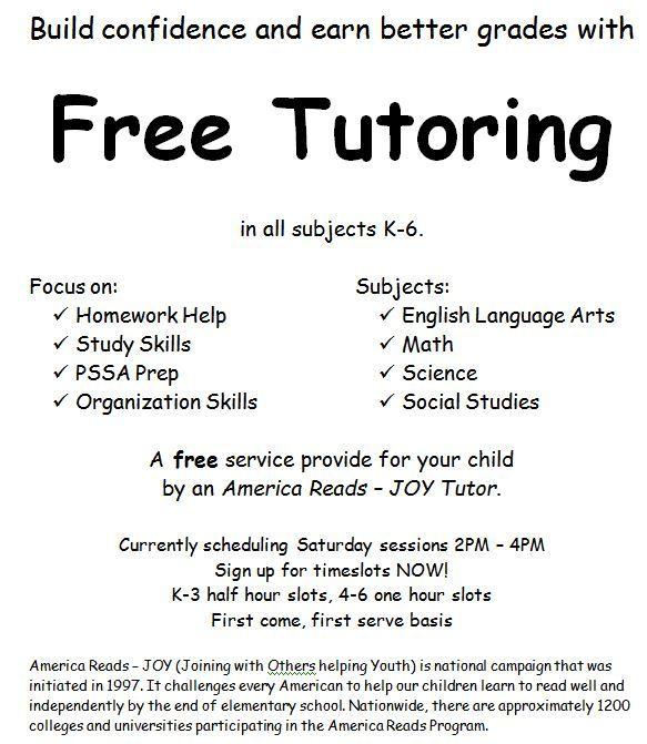 sample resume tutoring flyer template