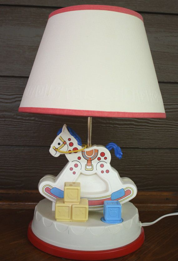 Fisher Price Vintage Rocking Horse Nursery Lamp By Gremlina, $45.00