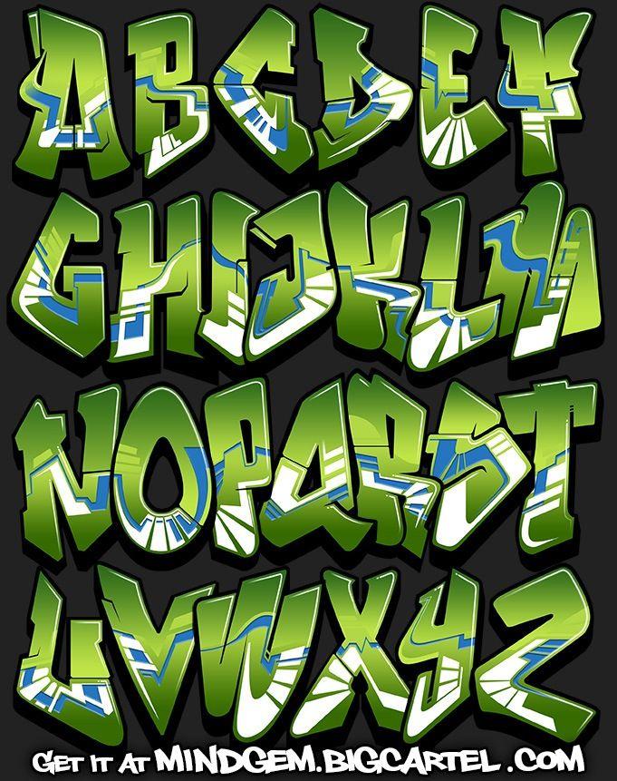 Image of graffiti font lush abecedaire graff pinterest graffiti lettrage graffiti et - Lettre graffiti modele ...