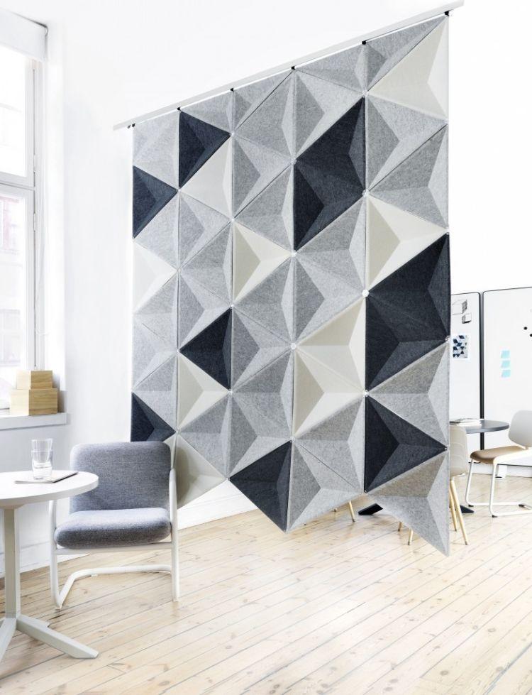 25 Design Schallabsorber und dekorative Trennwände Væg - design schallabsorber trennwande