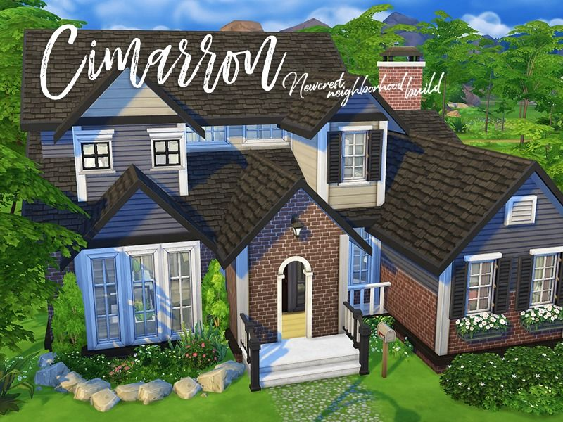 A Perfect House For Any Growing Family This Home Comes With 4 Bedrooms 2 Bathrooms And A Small Study Sims 4 House Building Sims 4 Family House Sims Building