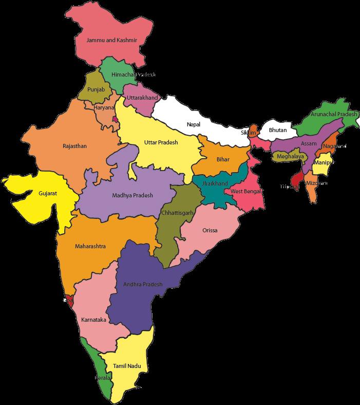 India Indian Map Mumbai Location In India 700x838 Png Download India Map Mumbai Location Png