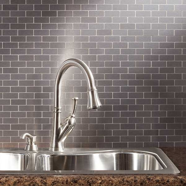 Decorative Tin Backsplash Tiles Peel And Stick Mini Subway Metal Tiles  Diy  Pinterest  Metals