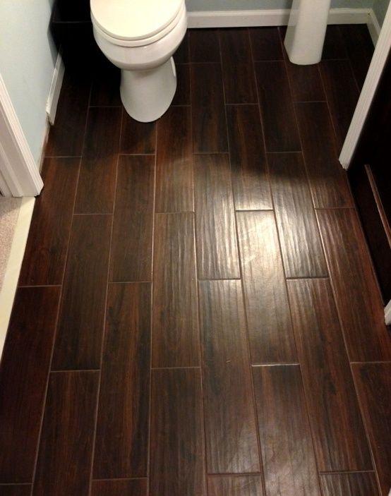Dark Wood Look Tile Favorite Spaces Wood Tile Bathroom