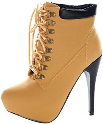 cad76ff4a73c3 Amazon.com: JJF Shoes Women's COMPOSE-01 High Heel Almond Toe Lace ...
