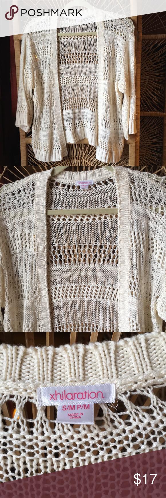 XHILARATION Knitted Cover Up Cardigan 34 Sleeves | Cardigan