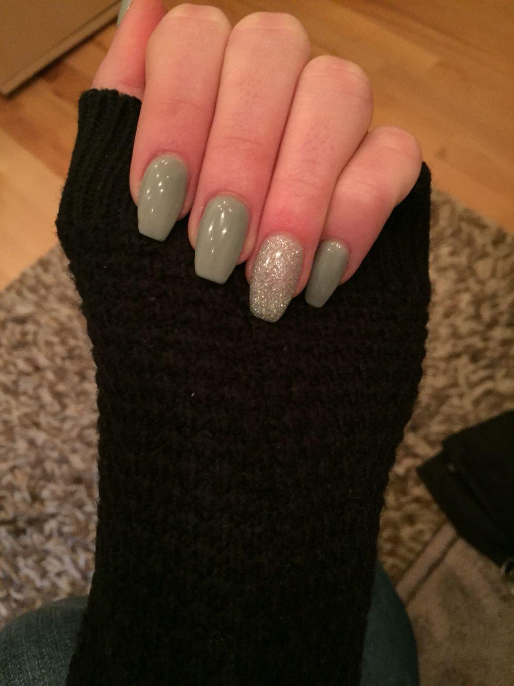 grau#glitzer#gel#nägel#eckig | Nägel | Pinterest | Gel-Nägel ...