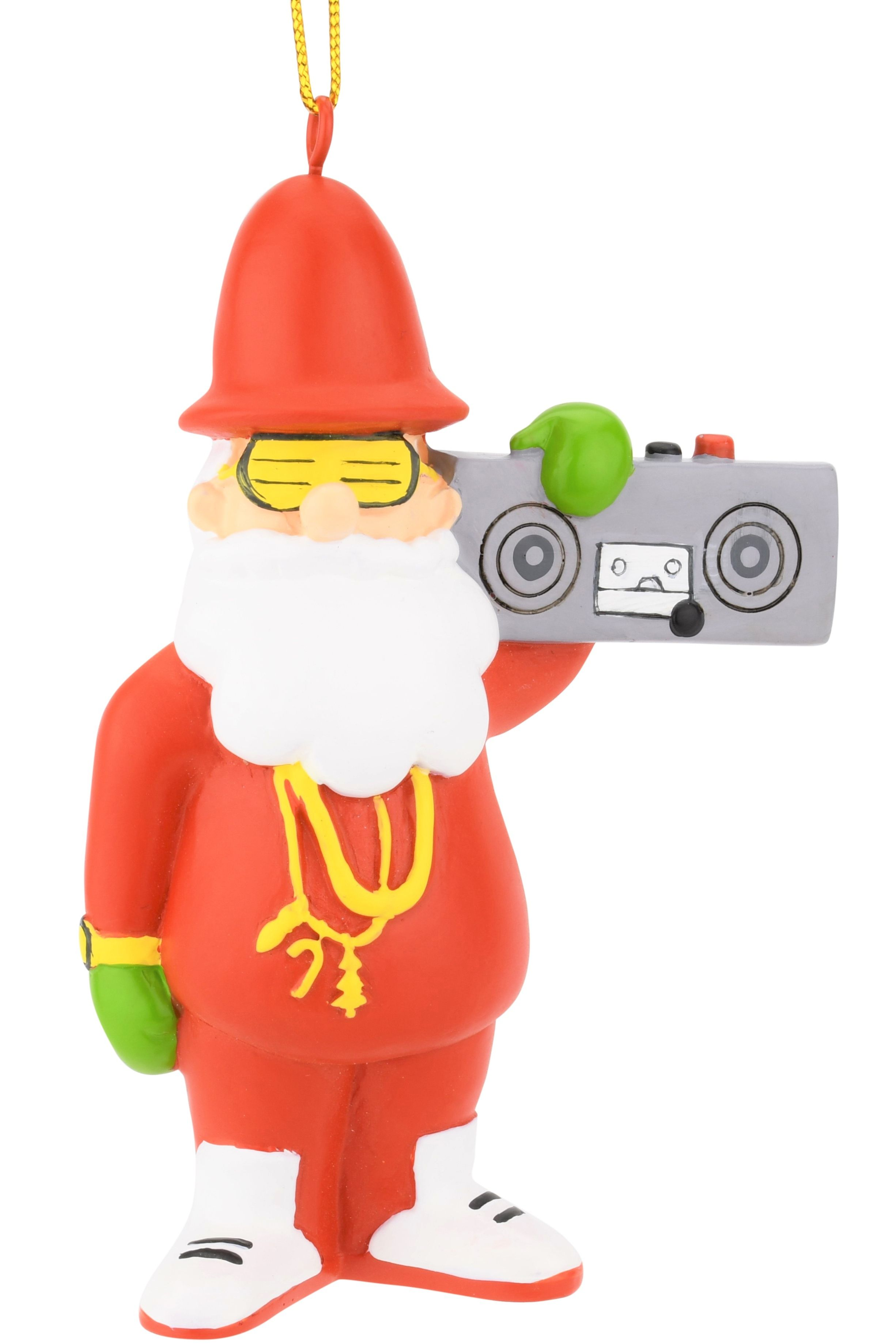 80's Hip Hop Santa Resin Christmas Ornament | Tree Buddees in 2020
