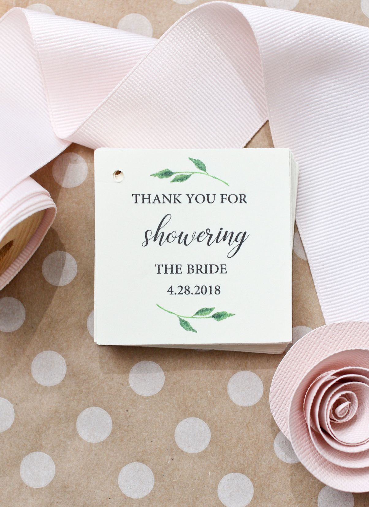 bridal shower favor tags wedding favor tags spring bridal shower summer bridal shower favor tags from my shower to yours